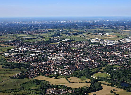 Heywood Aerial Photo Town Centre
